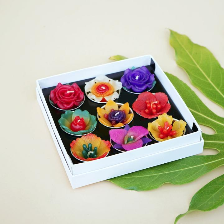 Tropical Flower-Scented Tealight Collection