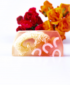 Charmed Flowers Luxury Soap Bar with Loofah