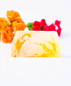 Summer Apricot Luxury Soap Bar with Loofah