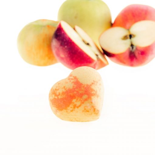 Golden Apple Bath Heart