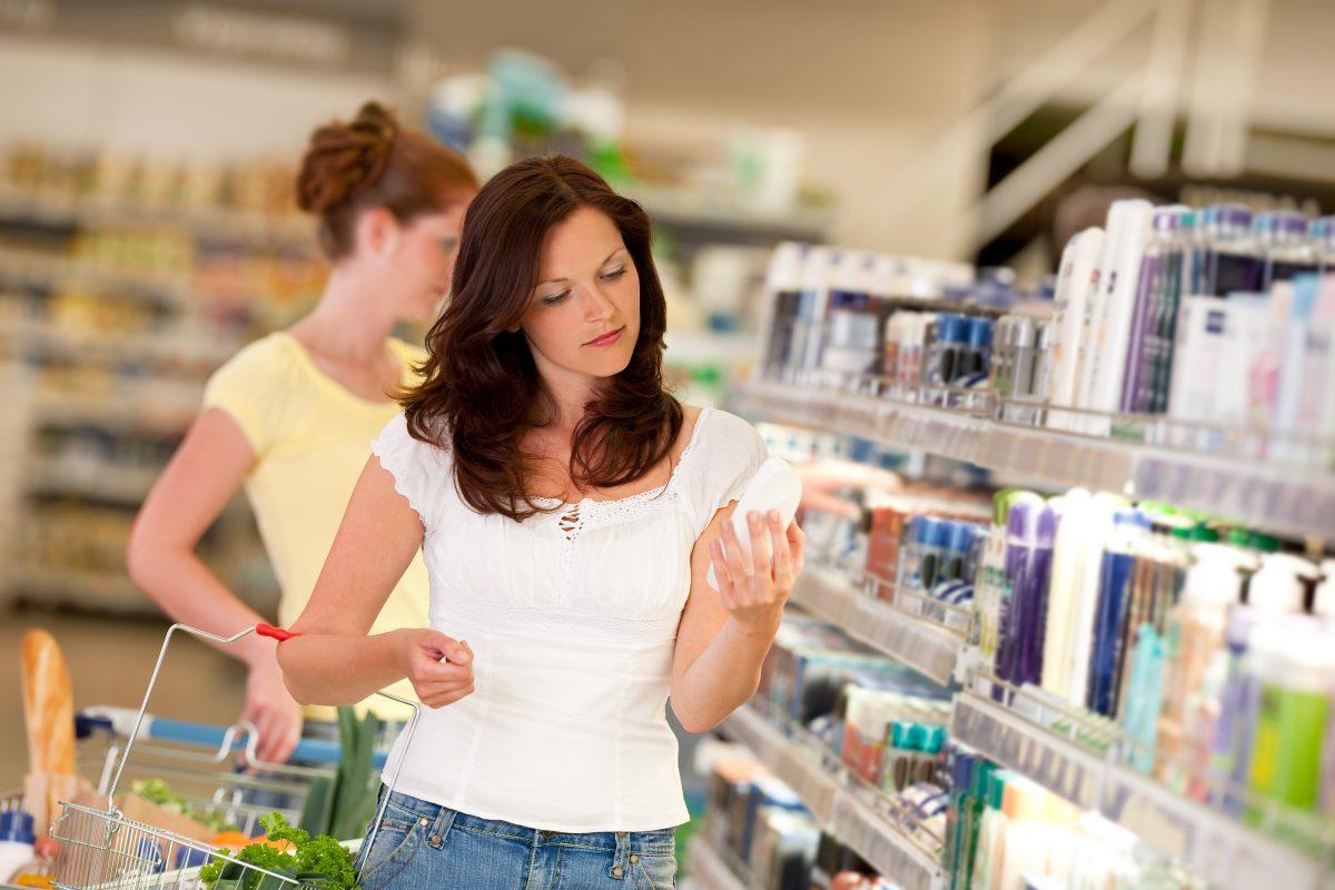 Shopping Woman Shampoo